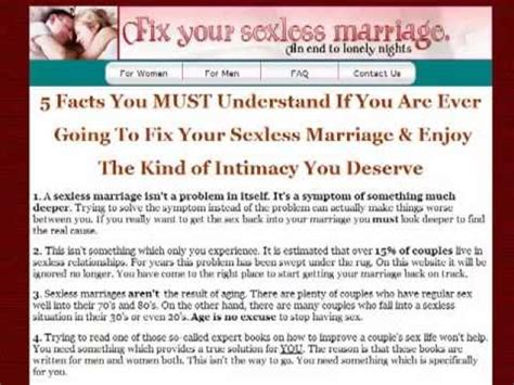 Would you stay in a sexless marriage