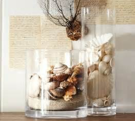 tropical home decor accessories beach shell vase filler tropical home decor by