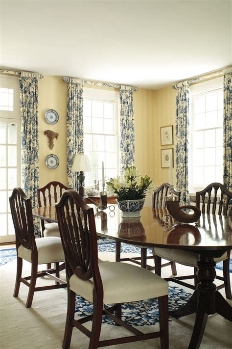 Dinning Room Curtains Decorating Astonishing Waverly Toile Curtains Decorating Ideas Gallery In Dining Room Traditional Design Ideas