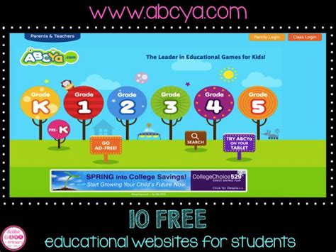 biography websites for elementary students educational websites