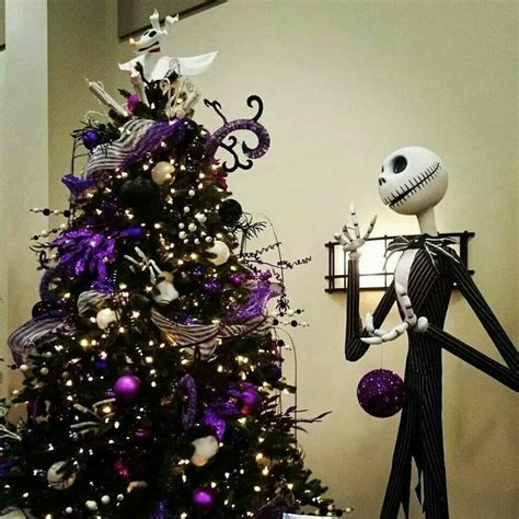 jack skellington and a spooky christmas tree nightmare