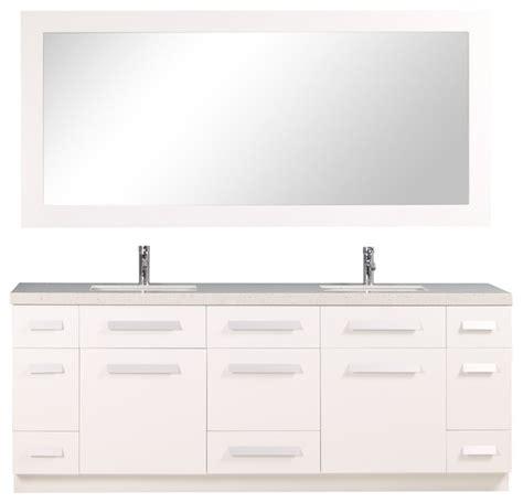 design elements moscony design element moscony 84 quot modern double sink vanity set