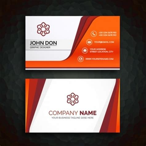 business card 3d template visiting card vectors photos and psd files free