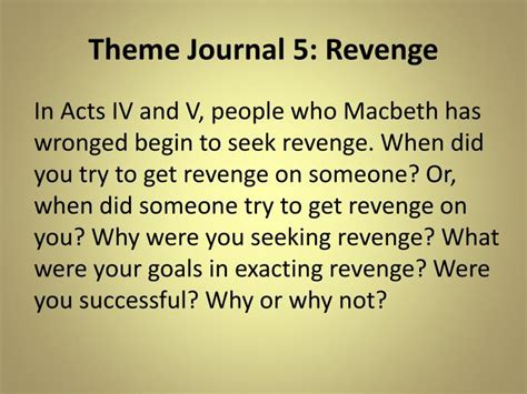 revenge themes in macbeth ppt theme journal 1 honor vs betrayal powerpoint