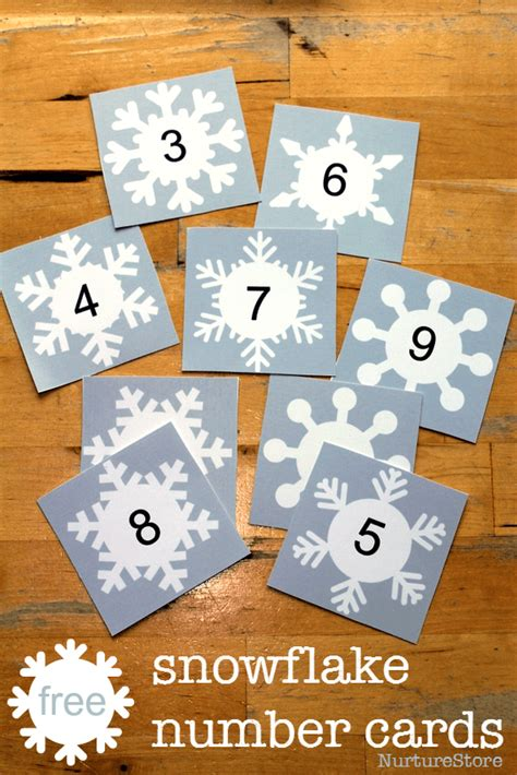printable magic number cards winter theme in preschool on pinterest the mitten