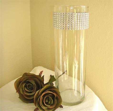 Bling Wrap For Vases by Set Of 10 Silver Rhinestone Wrap Glass Cylinder Vases By Modmv