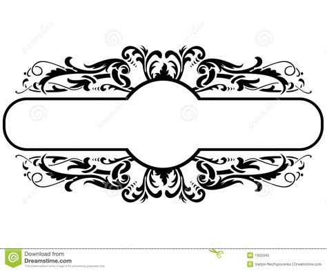 frame design exle black frame floral decoration vector illustration 1925340
