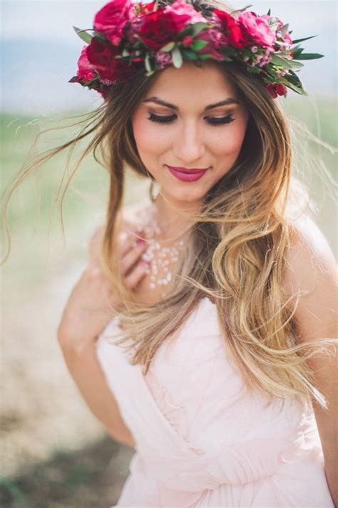 hairstyles only app good vibes only bohemian bridal shower with flower crown
