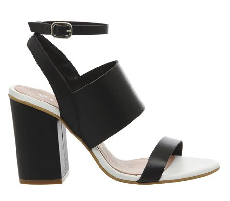 Office Heels 9cm office time 3 block heel sandals in black lyst