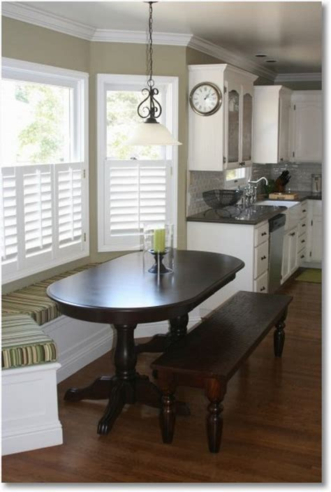 a space saving kitchen window seat