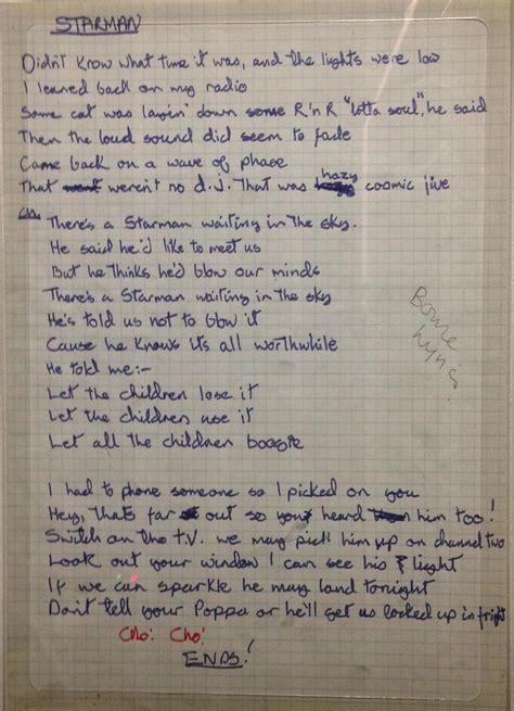 testo s david bowie s song lyrics were all written by
