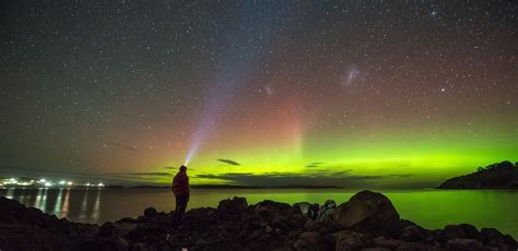 the southern lights put on a display in the sky