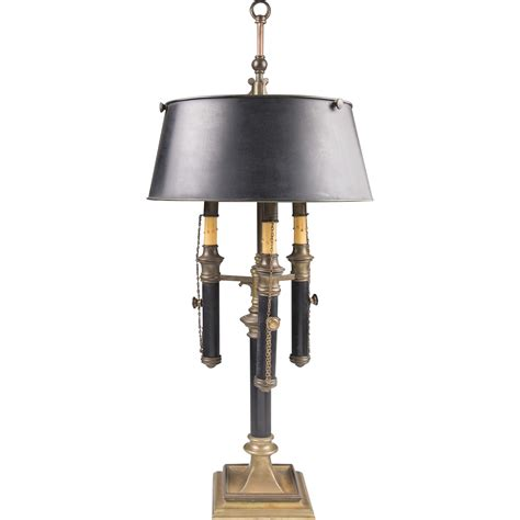 Bouillotte L Shade by Chapman Bouillotte 3 Light L With Black Tole Shade From