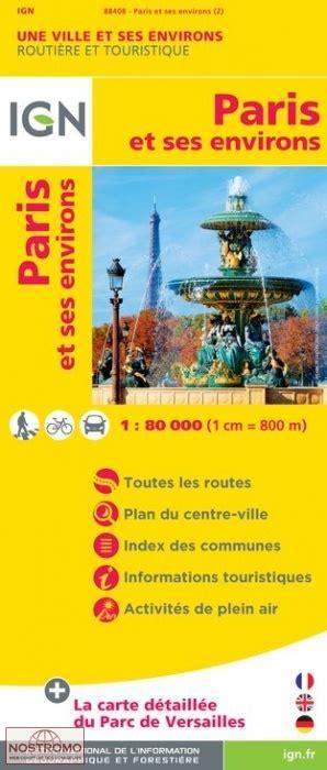 paris ses environs 97 paris et ses environs carte touristique ign nostromoweb