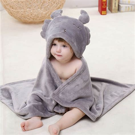Selimut Baby Hoodie Blanket grey flannel scorpio baby hoodie blanket n10376