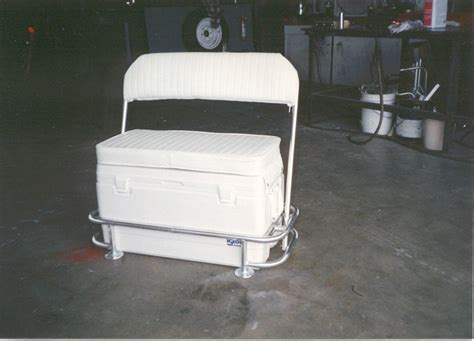bay boat cooler seat action welding s photo galleries of the cooler swing back seat