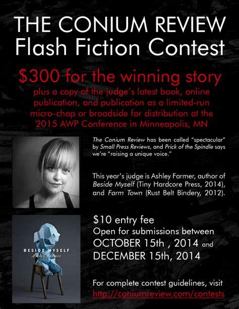 contest 2014 deadline conium review s flash fiction contest deadline 12 15 14