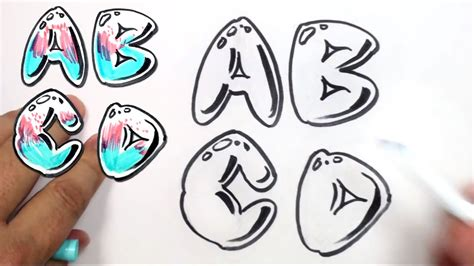 Letter Abcd graffiti alphabet letters graffiti collection