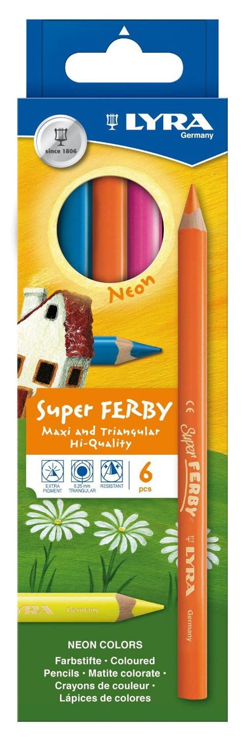 Lyra Ferby Lacquered Pencil Set 6 lyra ferby k06 3721063 coloured pencils varnished set of 6 in a cardboard packaging