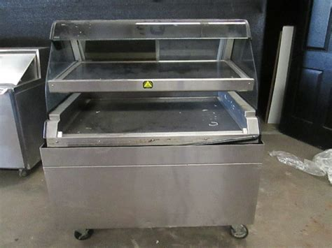alto shaam ed  dual level  serve hot food warmer display case