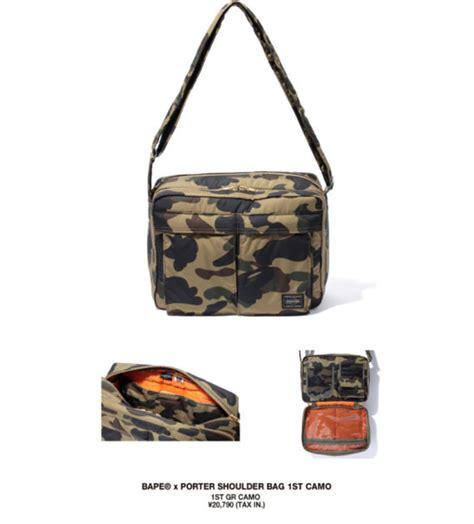 Luggage Label Yoshida Sling Bag bape x porter fall winter 2013 1st camo collection