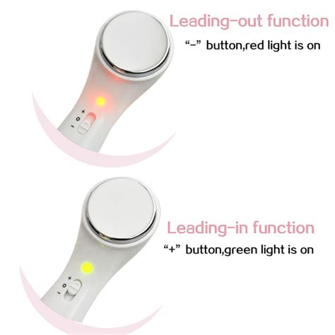 Ion Massager Setrika Wajah Anti Aging Treatment micro vibrate anti wrinkle massager roller ion care clean tool alex nld