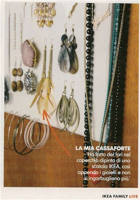 ladari di stoffa tenere in ordine orecchini braccialetti e collane mamma