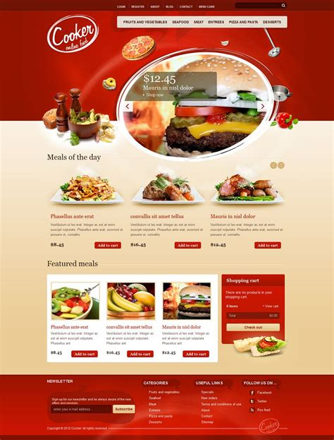 html themes restaurant free download cooker premium drupal restaurant theme with html5 and css3