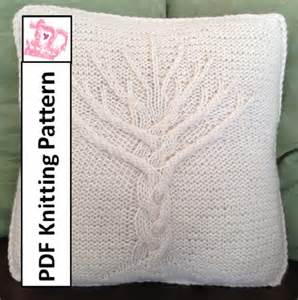tree of knit pattern tree of pillow cover knitting