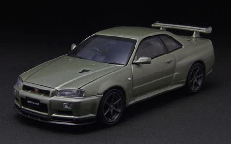 Nissan Skyline Gt R 34 Skala 43 Merk Mtech Limited Edition 43world ミニチュアモデルの世界 1 43 京商