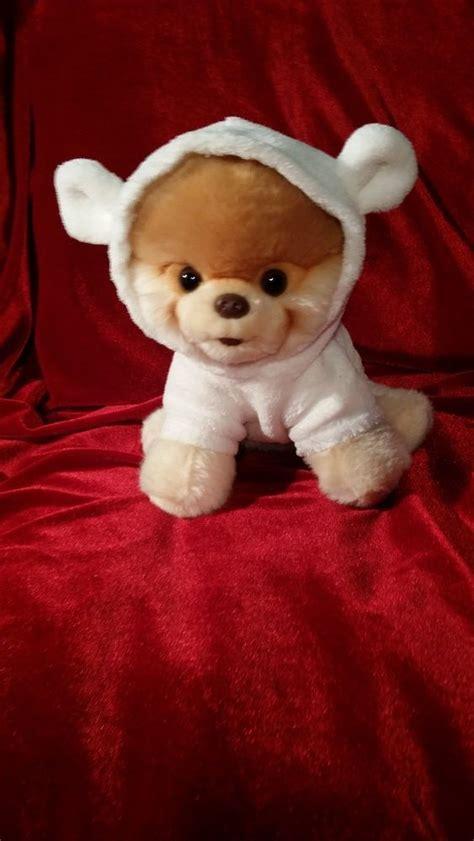 gund pomeranian gund 9 quot boo world s cutest pomeranian puppy plush in teddy suit stuffed