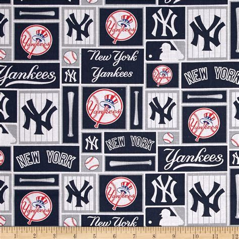 pattern making services nyc mlb cotton broadcloth new york yankees blue white