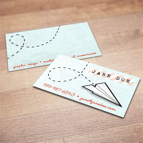 How To Make A Unique Paper Airplane - 100 custom paper airplane business cards just plane creative