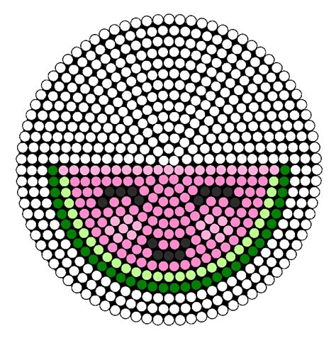 watermelon perler bead pattern perler bead ideas