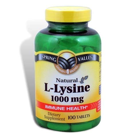 supplement l lysine valley 1000mg l lysine supplements consumer reviews