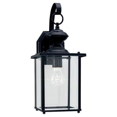 sea gull lighting jamestowne 1 light black outdoor wall