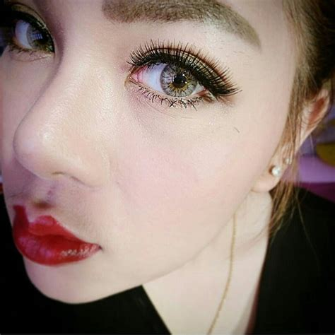 Softlens Sweety Cherry Brown contact lens dueba cherry silver color lens korean lens