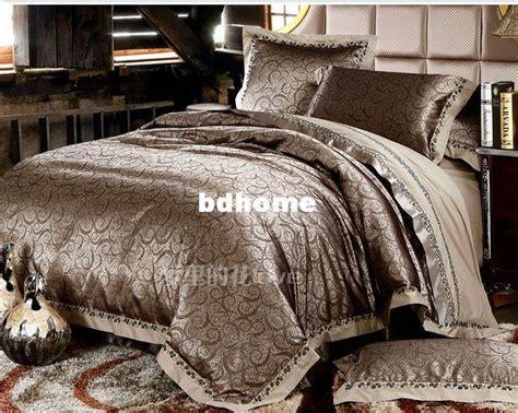 Luxury Silk Bedding Red Wedding Comforter Sets King Queen