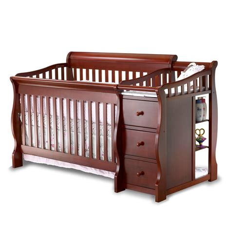 Sorelle Tuscany 4 In 1 Convertible Crib And Changer Combo Baby Cribs With Changer
