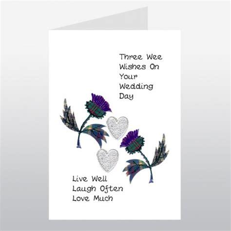 Scottish Themed Wedding Cards scottish wedding card thistle wwwe55 wedding cards uk