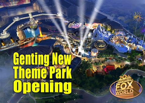 theme park genting genting new theme park opening malaysia asia