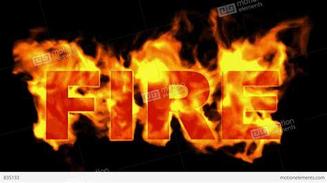 burning fire word stock animation 835133