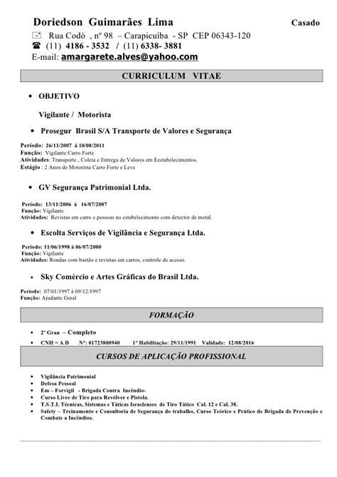 Modelo De Curriculum Vitae Para Vigilante De Seguridad Curriculum Vitae Dori1