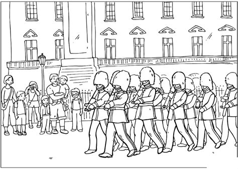 coloring page guard coloring page changing of the guard