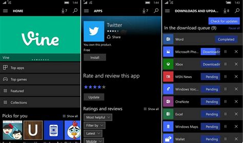 windows mobile store new windows 10 mobile store has leaked with ui changes