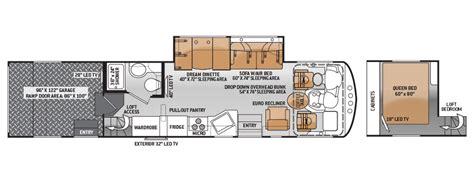 class a rv floor plans outlaw class a toy hauler 37ls floor plan png 900 215 350