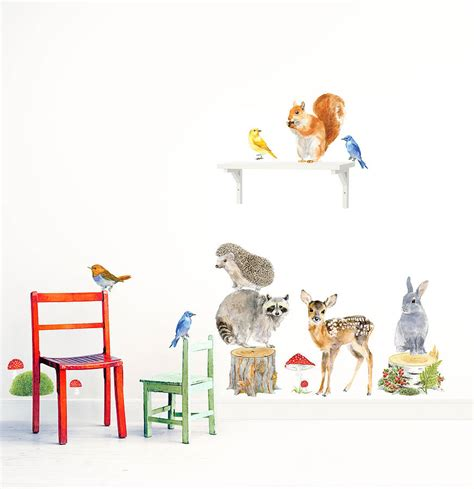 animal wall stickers forest animals wall stickers woodland animals set by