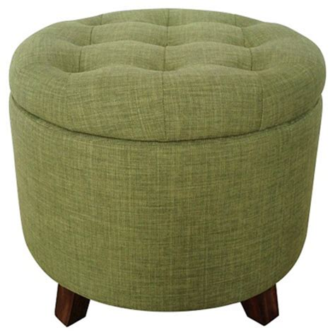 green round ottoman green tufted round storage ottoman decor by color