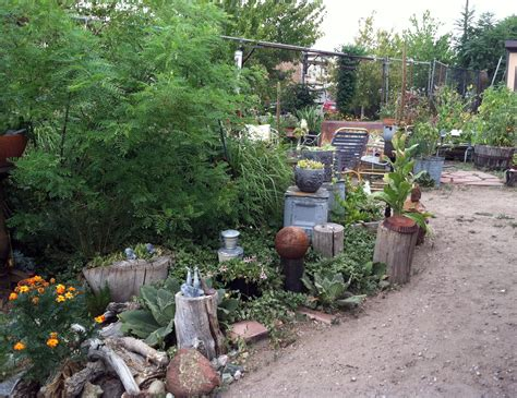 Rustic Backyards An Industrial Found Object Garden Delights More Fun Ideas