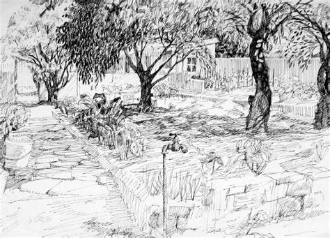 drawing of garden family garden drawing by mark lunde